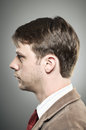 Caucasian man blank expression profile portrtait a in his s with a Royalty Free Stock Photography
