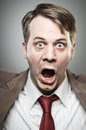 Caucasian man screaming angry portrtait a in his s angrily Stock Photography