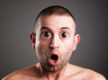 Caucasian man with surprised expression Stock Photography