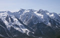 Caucasian mountains near sochi at winter Royalty Free Stock Images