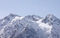 Caucasian mountains at winter view on Royalty Free Stock Image