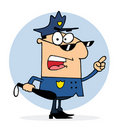 Caucasian police officer man Royalty Free Stock Images