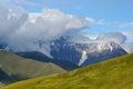 Caucasus mountains in Upper Svaneti,trek to Ushguli village Royalty Free Stock Photo