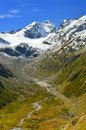 Caucasus valley this is autumn in mountains Royalty Free Stock Photography