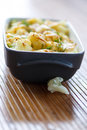 Cauliflower baked with egg and cheese dill Royalty Free Stock Photo