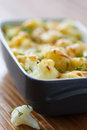 Cauliflower baked with egg and cheese dill Stock Photo