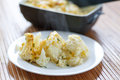 Cauliflower baked with egg and cheese dill Stock Image
