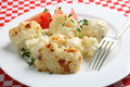 Cauliflower cheese on a plate Royalty Free Stock Images