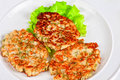 Cauliflower cutlets with apples food Stock Image
