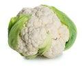 Cauliflower fresh raw isolated on white background Stock Photos