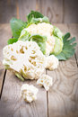 Cauliflower with leaves Royalty Free Stock Photo