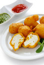 Cauliflower pakora , indian cuisine Royalty Free Stock Photos