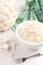 Cauliflower puree cooking and eating Royalty Free Stock Photo