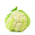 Cauliflower single head over the white background Stock Photo