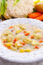 Cauliflower soup a fresh and tasty Royalty Free Stock Images