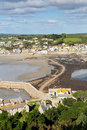 Causeway between st michaels mount and marazion cornwall england view of from to Stock Photos