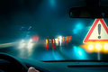 Caution - Bad Weather Driving Royalty Free Stock Photo