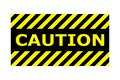 Caution banner sign vector eps10. Border with line yellow and black color. Caution sign. Border and text design like Stamp