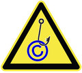 Caution copyright fraud symbol and warning sign for infringement Royalty Free Stock Photo