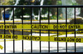 The Caution and Do Not Enter sign Royalty Free Stock Photo