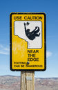 Caution Edge Sign Royalty Free Stock Photo