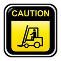 Caution - forklift truck Royalty Free Stock Photos