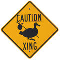 Caution Goose Crossing Royalty Free Stock Photo