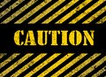 Caution grunge background with black and yellow stripes Stock Photography
