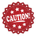 Caution! grunge stamp Royalty Free Stock Photo
