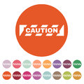 The caution icon. Danger and hazard, attention symbol. Flat Royalty Free Stock Photo