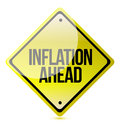 Caution - Inflation Ahead Stock Photography