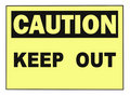 Caution Keep Out Warning Sign Royalty Free Stock Photo