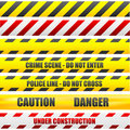 Caution lines Royalty Free Stock Image
