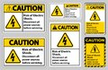 Caution Risk of electric shock Symbol Sign Isolate on White Background Royalty Free Stock Photo