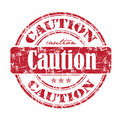 Caution rubber stamp Royalty Free Stock Photo
