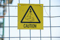 Caution sign at a construction site Royalty Free Stock Photo