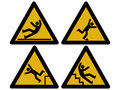 Caution signs Stock Photo