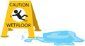 Caution slippery with drop water illustration of isolated Stock Photo