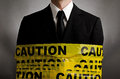 Caution Suit Royalty Free Stock Image