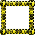 Caution tape frame Royalty Free Stock Photo