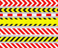 Caution Tapes and Warning Signs, SEAMLESS Stripes Royalty Free Stock Photo
