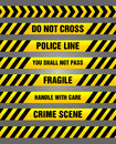 Caution tapes - yellow and black warning pattern Royalty Free Stock Photo