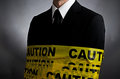 Caution Tie Royalty Free Stock Photo
