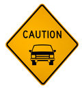 Caution Vehicle Ahead Royalty Free Stock Photo