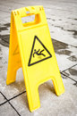 Caution wet floor sign Stock Photo
