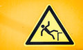 Caution wet floor sign Royalty Free Stock Photography