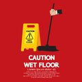 Caution wet floor vector illustration Royalty Free Stock Photography