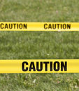 Caution yellow tape Stock Image