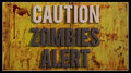 Caution zombies alert d sign Stock Photos