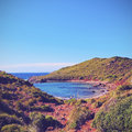 Cavalleria beach on minorca platja de menorca balearic islands spain Royalty Free Stock Image